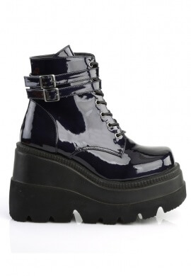 Demonia Black Hologram Shaker-52 Boots