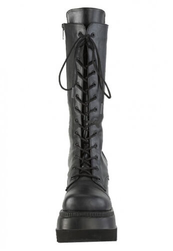 Demonia Black Shaker-72 Mid-Calf Boots