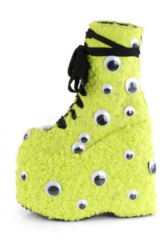 Demonia Slay-206 Furry Ankle Boots