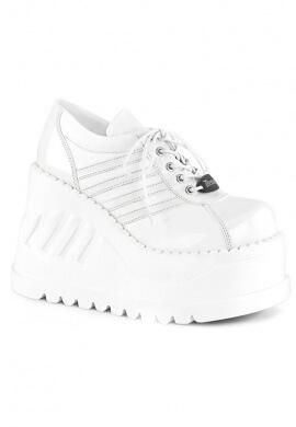 Demonia White Stomp-08 Shoes