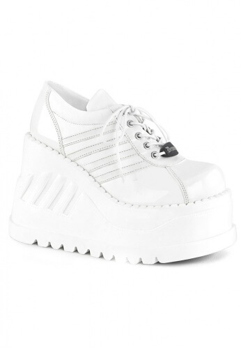 Demonia White Stomp-08 Shoes