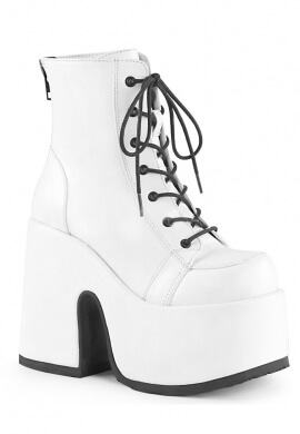 Demonia White Camel-203 Ankle Boots