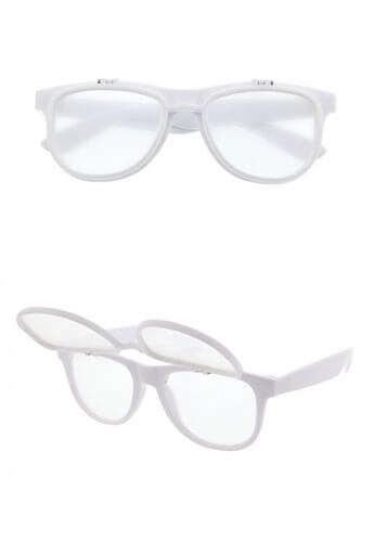 White Flip Diffraction Glasses