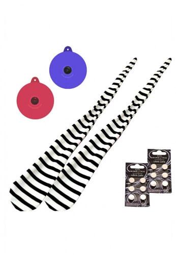 LED Glow Striped Jailhouse Sock Poi