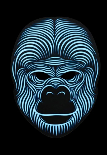 Light Up Gorilla Mask