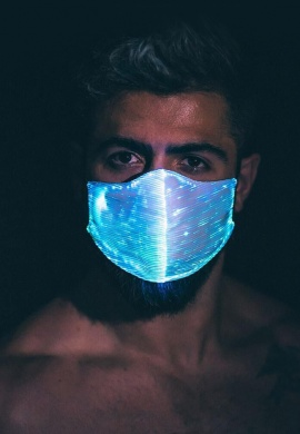 Light Up Fiber Optic Mask