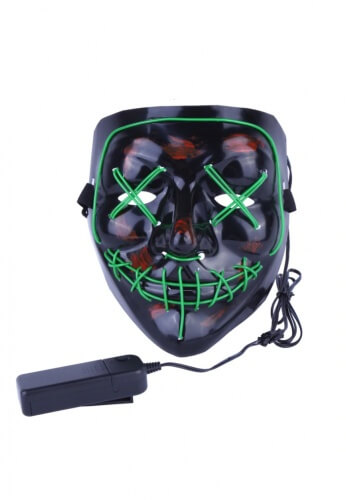Green EL Wire Light Up Purge Mask
