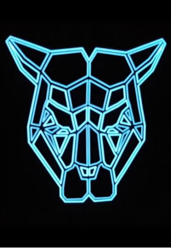 Light Up Jaguar Geometric Mask
