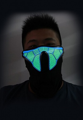 Tech Equalizer Light Up Mask