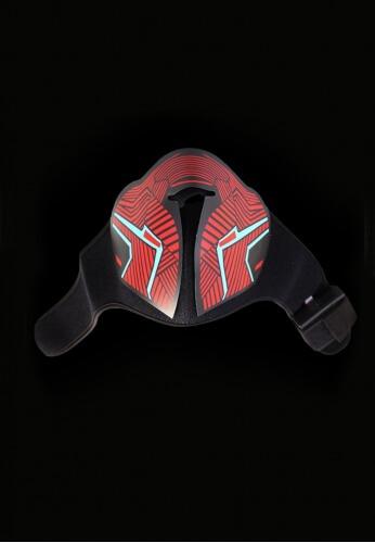 Red Geometric Light Up Mask