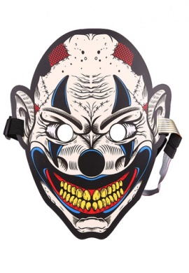 LED Light Up Heckles Clown Mask