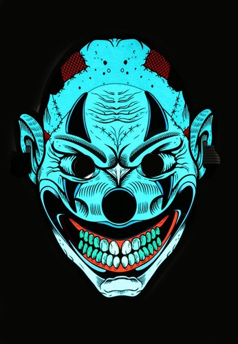 LED Light Up Joker Clown Mask