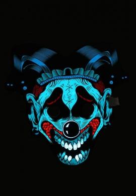 LED Light Up Giggles the Clown Mask