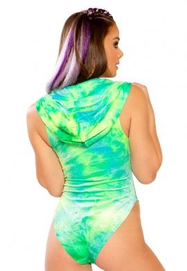 Sea Tie-Dye Hooded Bodysuit