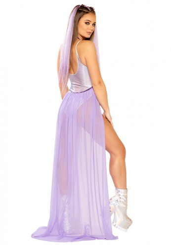Lavender Flowing Harness Skirt
