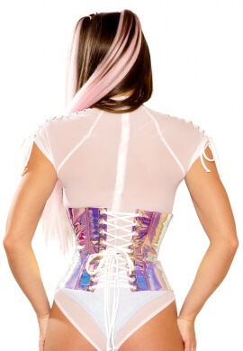 Pink Ice Holographic Waist Cincher