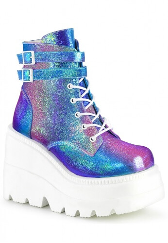 Purple Holographic Glitter Shaker-52 Boots