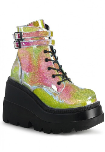 Pink and Green Holographic Glitter Shaker-52 Boots