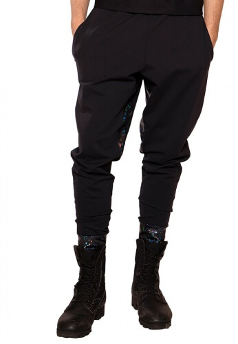Black and Holographic Joggers