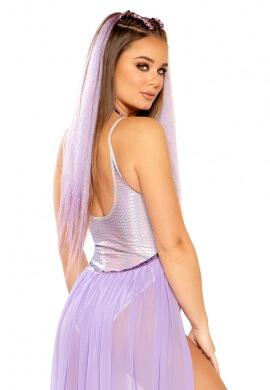 Lavender Holo Pyramid Bodysuit