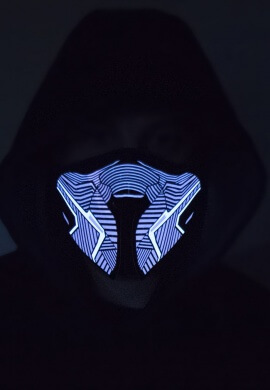 Red Geometric Light Up Mask