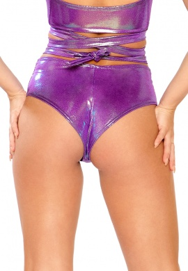 Holographic Purple Spectrum Shorts