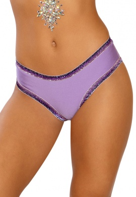 Lavender Glitter Elastic Shorts