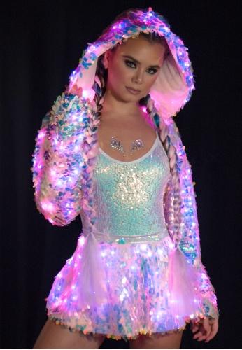 Cosmic Ice Light-Up Sequin Skirt