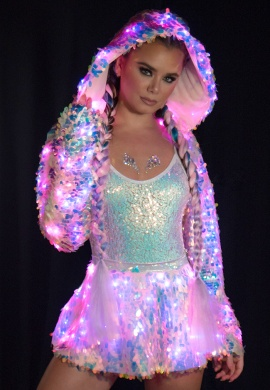 Lavender Dreams Light-Up Sequin Skirt