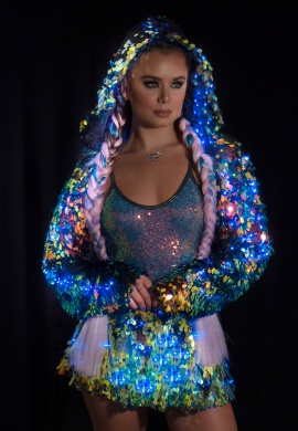 Water Opal Light-Up Sequin Skirt