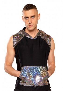 Broken Mirror Hooded Sleeveless Shirt