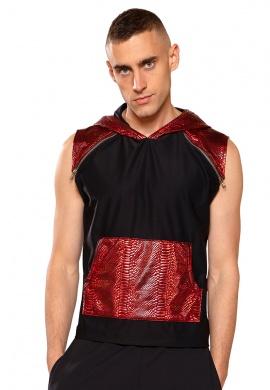 Red Cobra Hooded Sleeveless Shirt