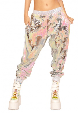 Silver Illusion Sequin Joggers