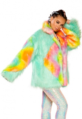 Malibu Sherbet Diamond Hip Length Coat