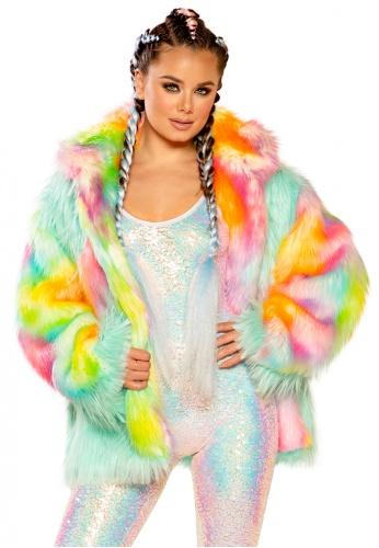 Malibu Sherbet Diamond Hip Length Coat