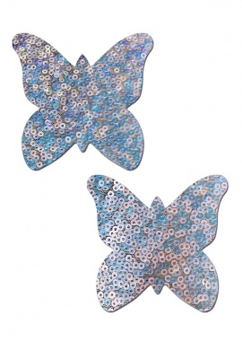 Cosmic White Monarch Butterfly Pasties