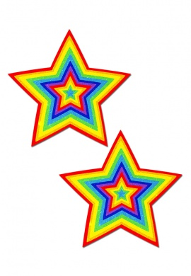 Rainbow Glitter Star Pasties