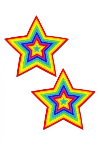 Rainbow Glitter Star Pasties