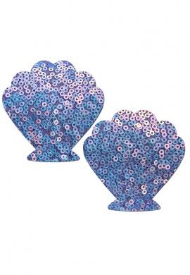 Cosmic Lavender Seashell Pasties