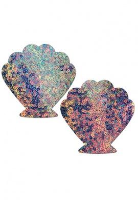 Cosmic Aqua Seashell Pasties