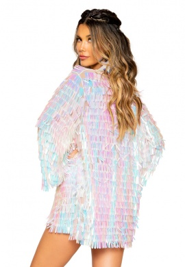 Iridescent White Raindrop Jacket