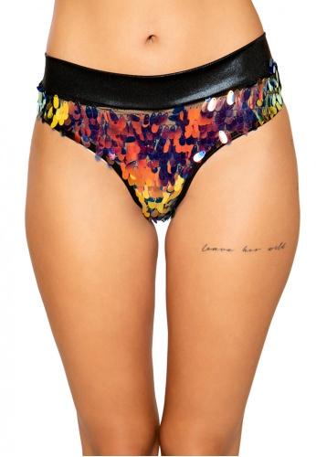 Black Gold Tear Drop Sequin Shimmer Shorts