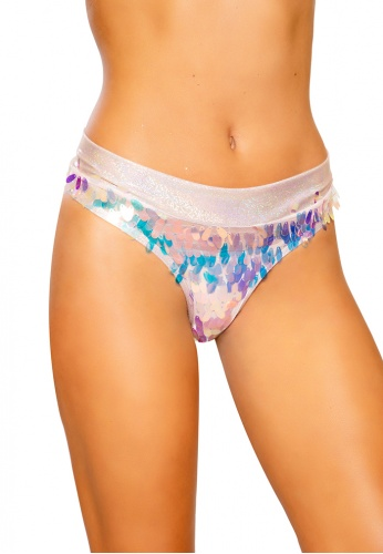 Holographic Baby Pink Tear Drop Sequin Shimmer Shorts