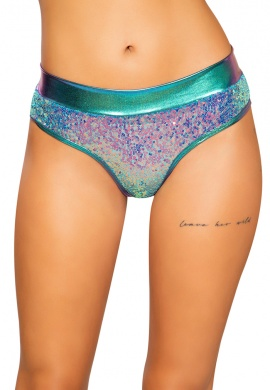 Jade Blue Sequin Shimmer Shorts