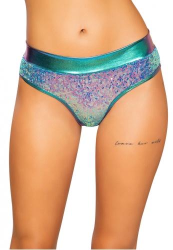 Jade Blue Sequin Shimmer Shorts