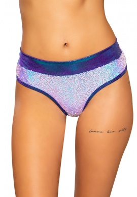 Pink and Blue Sequin Shimmer Shorts