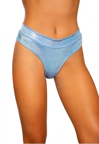 Blue Shimmer High Rise Shorts
