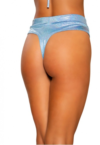 Blue Shimmer High Rise Shorts
