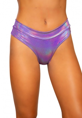 Purple Shimmer High Rise Shorts