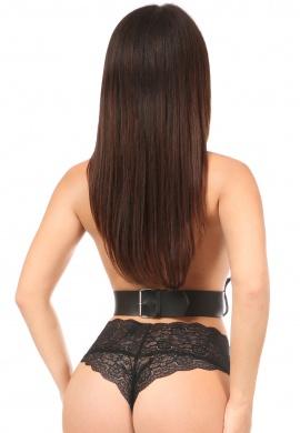 Black Vegan Leather Triple Strap Harness